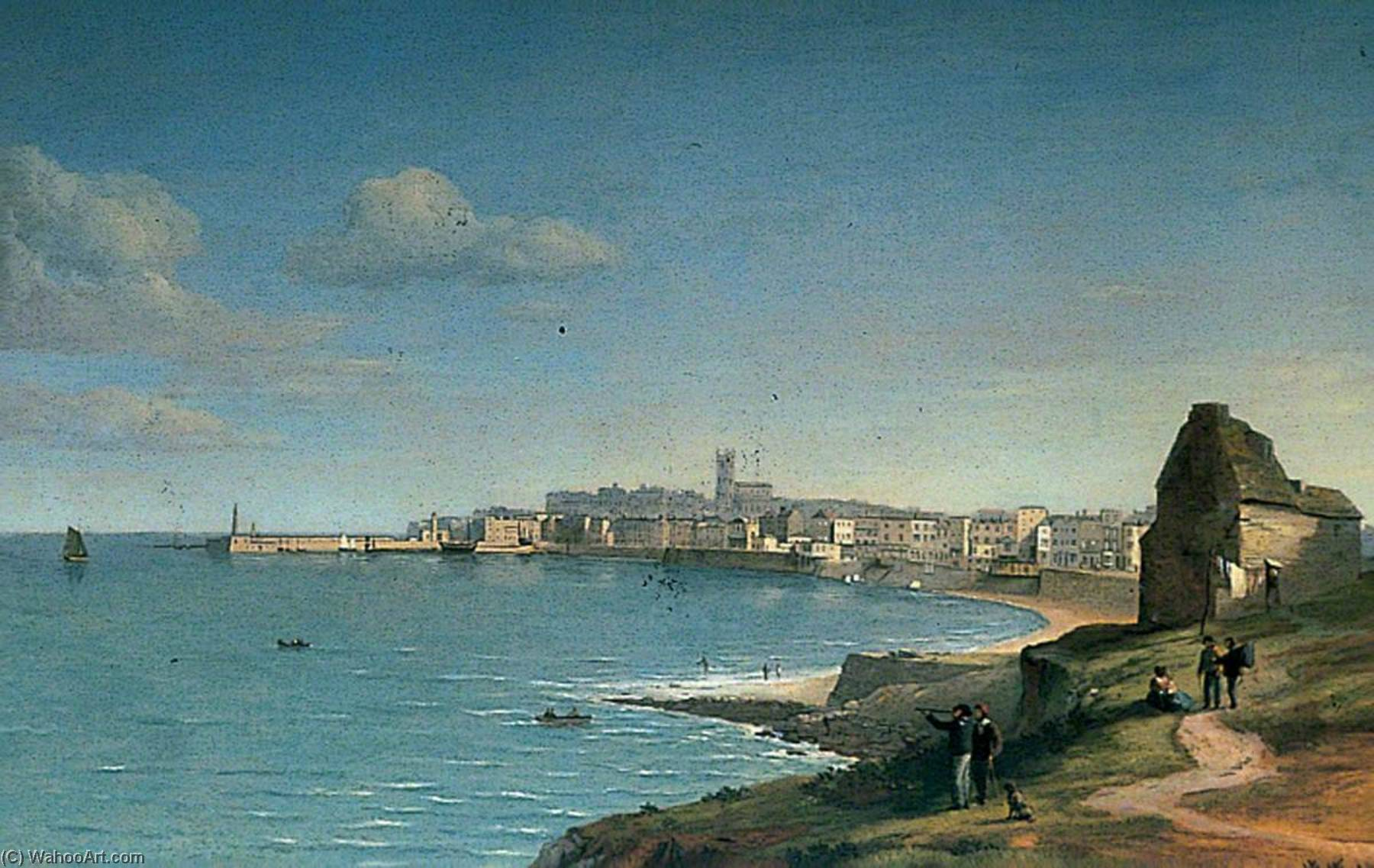Margate, Kent, from Westbrook, Oil On Canvas by Alfred Clint