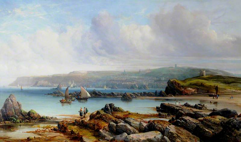 View of St Peter Port, Guernsey, Oil On Canvas by Alfred Clint