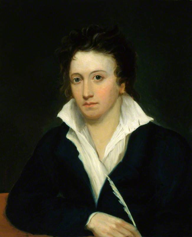 Percy Bysshe Shelley (copy after an original of 1918 by Amelia Curran and Edward Ellerker Williams), Oil On Canvas by Alfred Clint