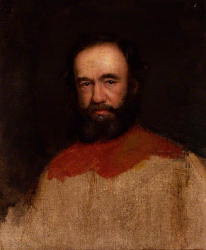 Sir James Outram, 1st Bt, 1863 by Thomas Brigstocke | Paintings Reproductions Thomas Brigstocke | WahooArt.com