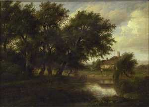 Patrick Nasmyth - Old Cottages on the Brent, looking towards Harrow