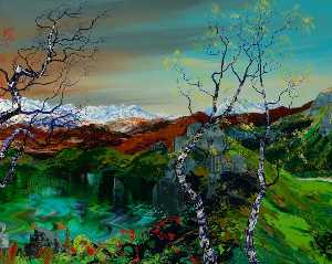 James Hawkins - The Great Glen through Four Seasons (panel 3 of 4)