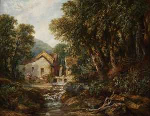 Henry Harris Lines - A Mill at Rowsley, Derbyshire