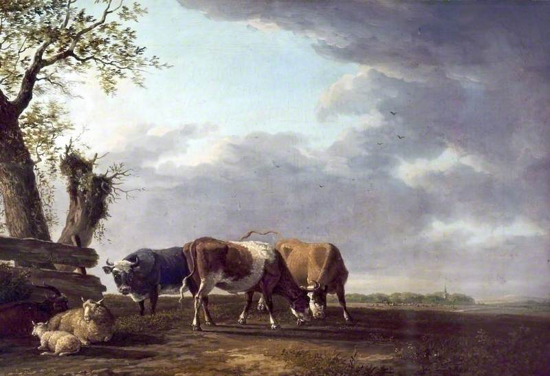 Cattle, Oil On Canvas by Paulus Potter (1625-1654, Netherlands)