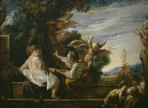 Domenico Feti (Domenico Fetti) - Vertumnus and Pomona