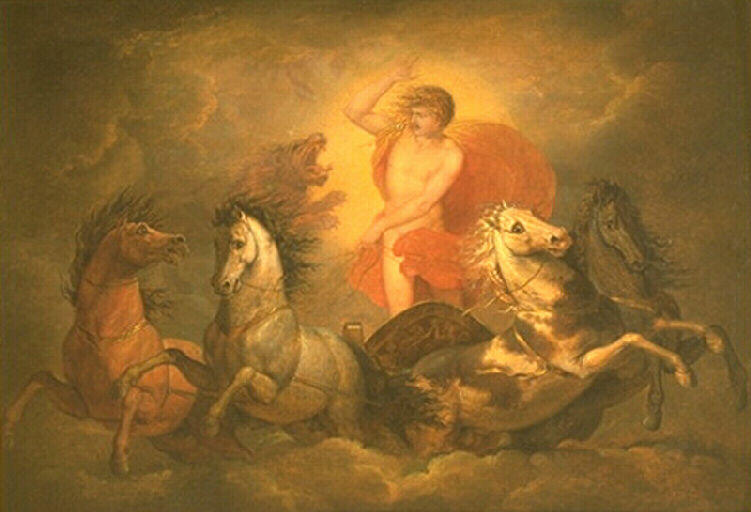 Phaéton effrayé par le signe du lion by Bénigne Gagneraux (1756-1795, France) | Famous Paintings Reproductions | WahooArt.com