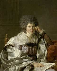 Jean Charles Nicaise Perrin - PORTRAIT DE MADAME NICAISE PERRIN NEE CATHERINE DELEUZE, ARRIERE GRAND MERE PATERNELLE DE MADAME G. CRAUK