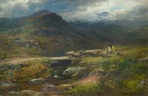 William Lakin Turner - Landscape with Sheep