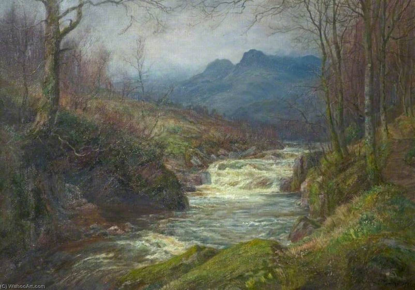 Flowing from the Fells, 1931 by William Lakin Turner (1936-1936, United Kingdom) | Reproductions William Lakin Turner | WahooArt.com