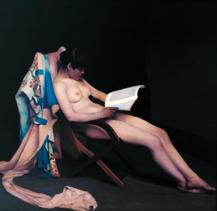 The Reading Girl, 1886 by Théodore Casimir Roussel (1847-1926, France) | Art Reproduction | WahooArt.com