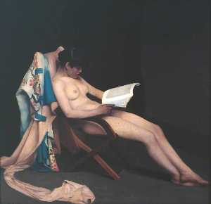 Théodore Casimir Roussel - The Reading Girl