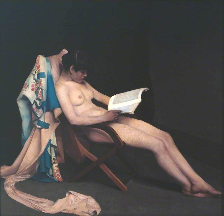 The Reading Girl, Oil On Canvas by Théodore Casimir Roussel (1847-1926, France)