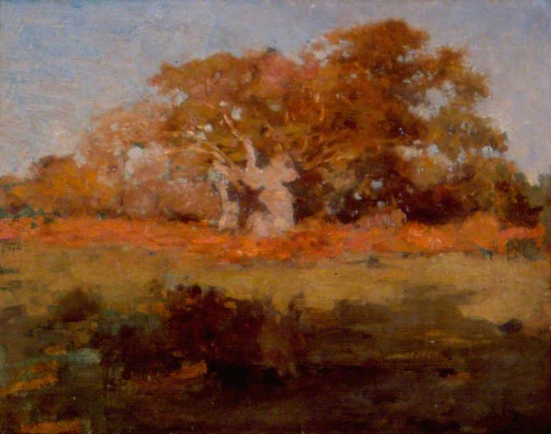 Autumn Trees, Oil On Canvas by Théodore Casimir Roussel (1847-1926, France)