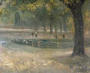 Théodore Casimir Roussel - Parkland in Summer