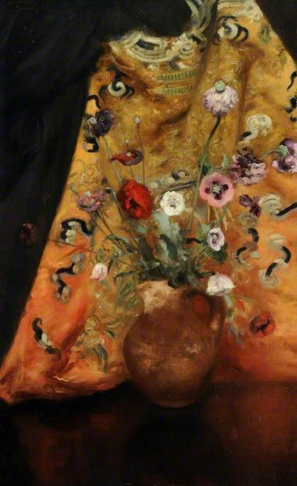 Flowers by Théodore Casimir Roussel (1847-1926, France) | Museum Quality Reproductions | WahooArt.com