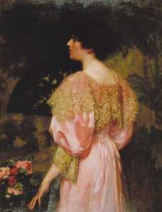 Charles Henry Malcolm Kerr - The Rose Coloured Gown (Miss Giles)