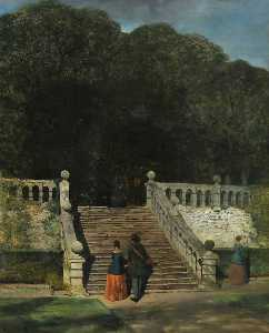 William James Blacklock - The Terrace, Haddon Hall
