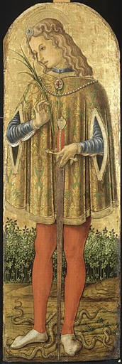 SAINT JULIEN by Vittore Crivelli (1440-1501, Italy)