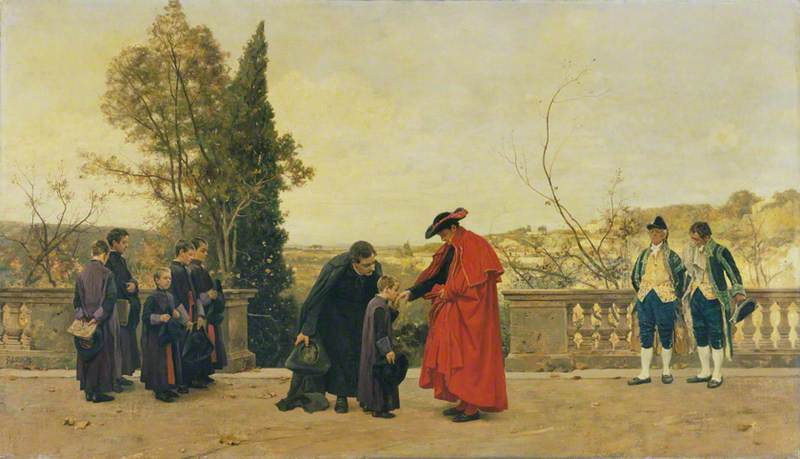 Order Art Reproductions | The Cardinal, 1863 by Ferdinand Heilbuth (1826-1889) | WahooArt.com