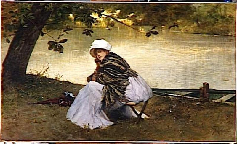 Order Art Reproductions | REVERIE by Ferdinand Heilbuth (1826-1889) | WahooArt.com