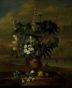 Jacob Van Huysum - Twelve Months of Flowers January
