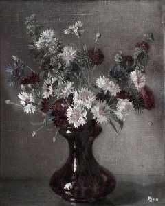 Maxwell Gordon Lightfoot - Knapweed, Thistles and Other Flowers in a Vase