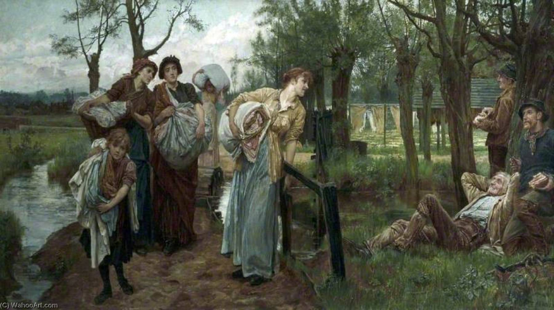Belle of the Village by Alice Mary Havers | Museum Quality Copies Alice Mary Havers | WahooArt.com