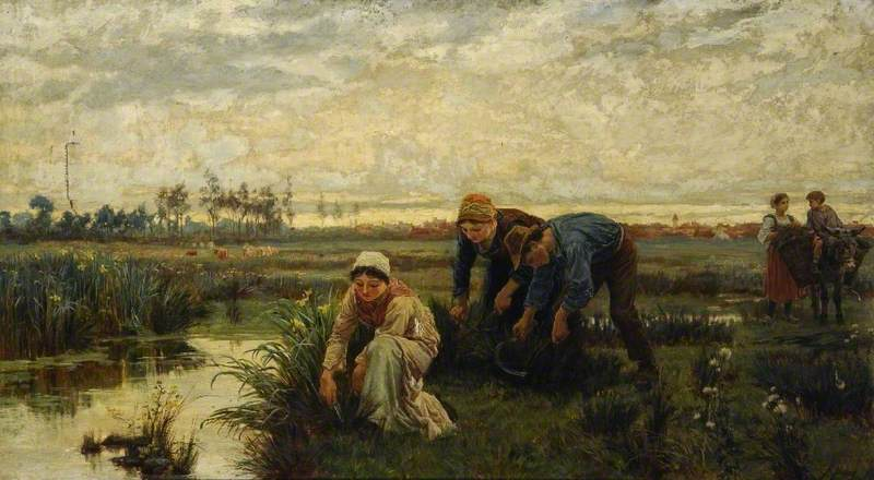 Buy Museum Art Reproductions | Rush Cutters by Alice Mary Havers | WahooArt.com