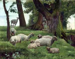Daniel Alexander Williamson - Sheep Resting
