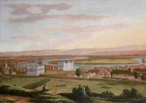 Hendrick Danckerts - A View of Greenwich and the Queen's House from the South East