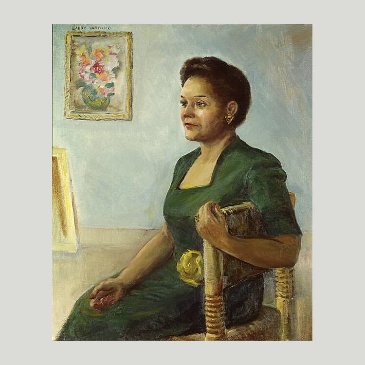 Jessie Redmon Fauset, 1945 by Laura Wheeler Waring (1880-1948, United States) | Museum Quality Copies Laura Wheeler Waring | WahooArt.com