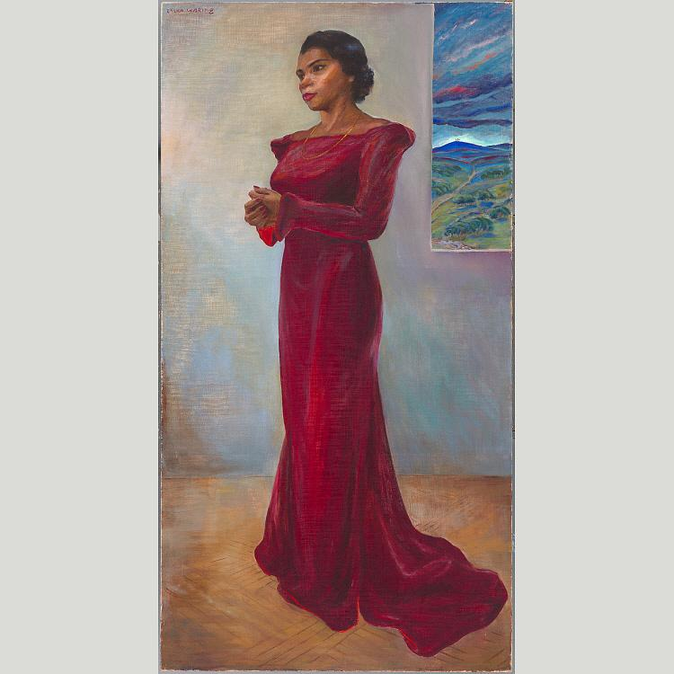 Order Art Reproductions | Marian Anderson, 1944 by Laura Wheeler Waring (1880-1948, United States) | WahooArt.com