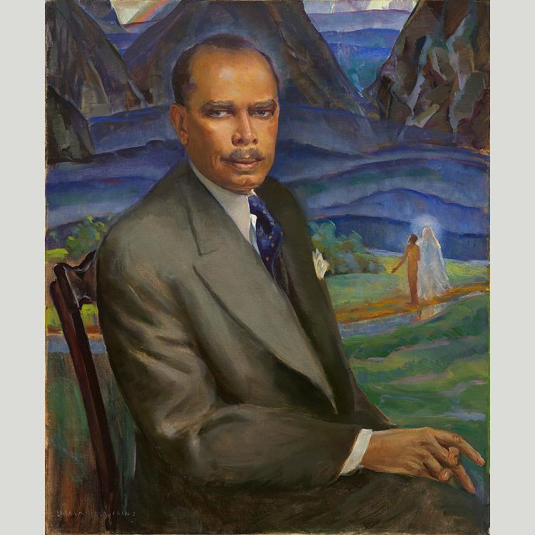 James Weldon Johnson, 1943 by Laura Wheeler Waring (1880-1948, United States) | Museum Quality Copies Laura Wheeler Waring | WahooArt.com
