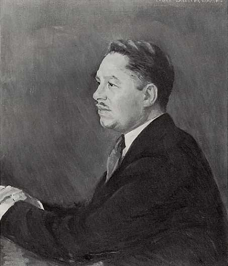 Portrait of Mr. Alonzo J. Aden, (painting), 1947 by Laura Wheeler Waring (1880-1948, United States) | Reproductions Laura Wheeler Waring | WahooArt.com