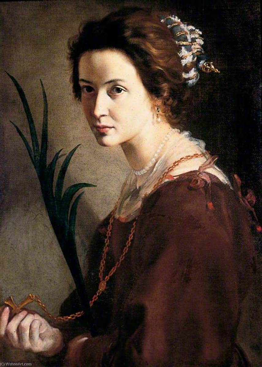 Unknown Lady as St Elizabeth by Alonso Cano (1601-1667, Spain) | Paintings Reproductions Alonso Cano | WahooArt.com