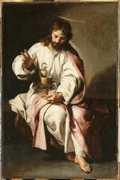 Buy Museum Art Reproductions | Saint Jean Evangeliste et la coupe empoisonnée by Alonso Cano (1601-1667, Spain) | WahooArt.com