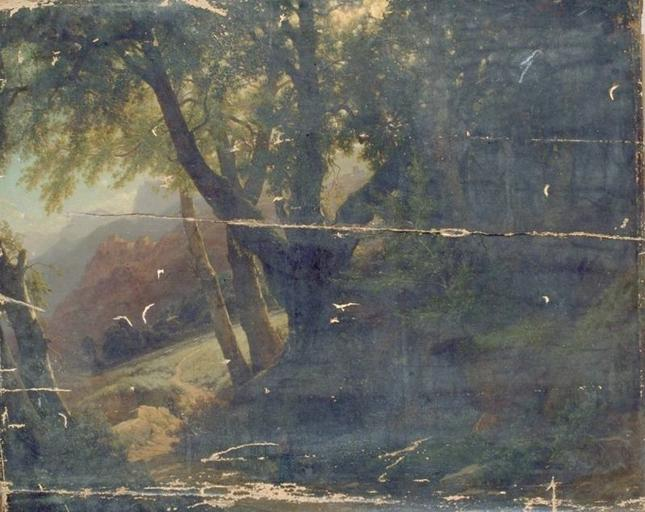 Order Paintings Reproductions | PAYSAGE D`AUVERGNE by Louis Auguste Lapito (1803-1874) | WahooArt.com