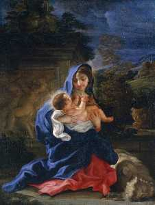 Giovanni Battista Gaulli (Baciccio) - The Rest on the Flight into Egypt