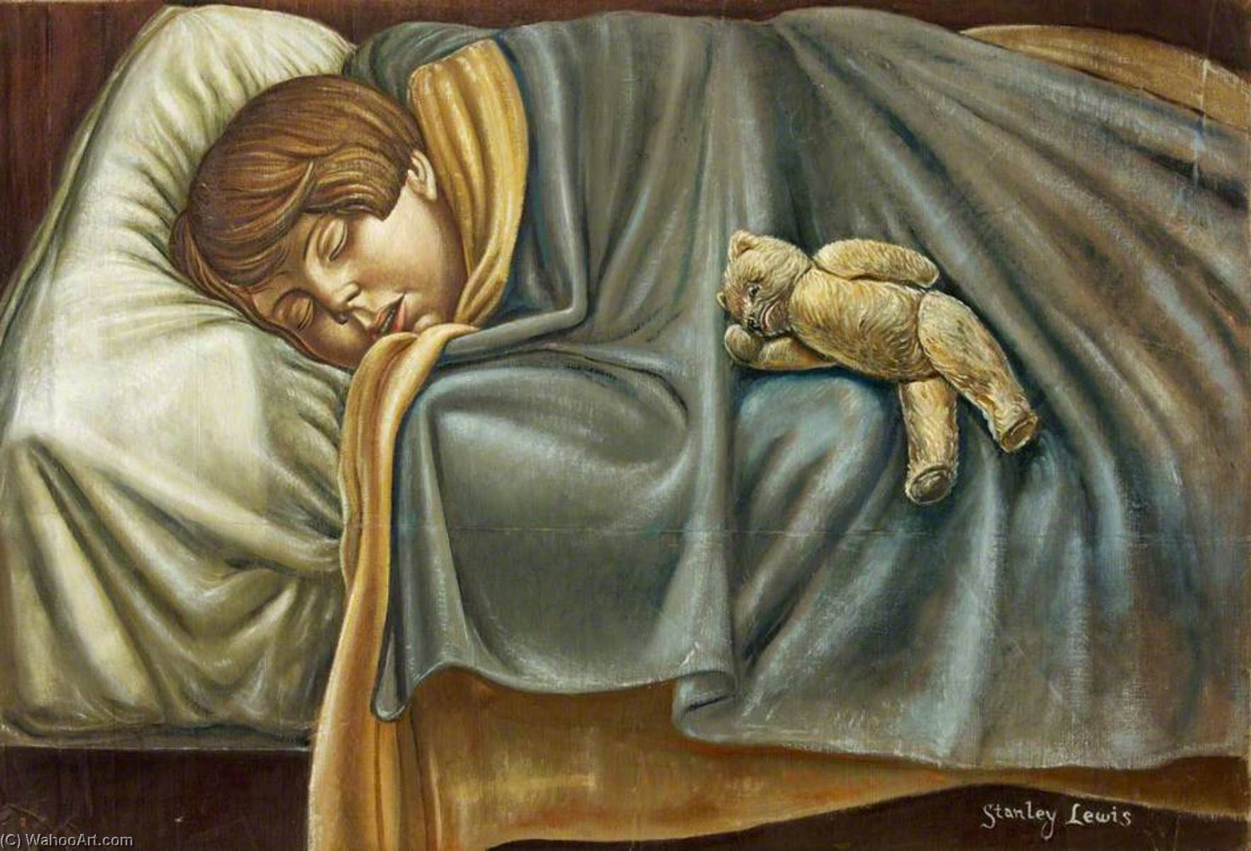 Sleeping Child by Stanley Cornwell Lewis (1905-2009) |  | WahooArt.com