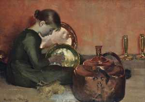 Marianne Stokes - Polishing Pans