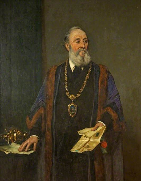 James Francis Prosser, Mayor of Tewkesbury (1866–1869, 1872, 1874, 1877, 1879–1880) by John Dawson Watson | Museum Quality Reproductions | WahooArt.com