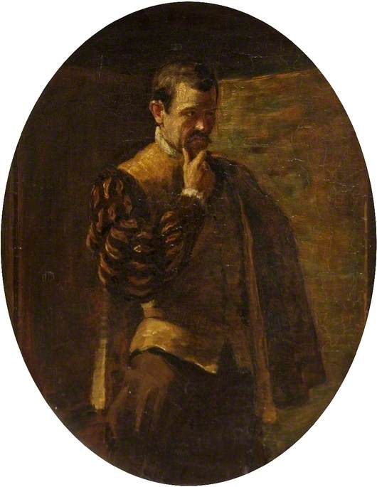 Frank Tyars (1848–1918), as Borachio (from 'Much Ado About Nothing' by William Shakespeare), Oil On Panel by Johnstone Forbes Robertson (1853-1937, United Kingdom)