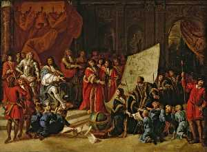 Antonio Verrio - Charles II Giving an Audience at Christ's Hospital