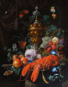 Nicolaes Van Verendael - Still Life with a Lobster