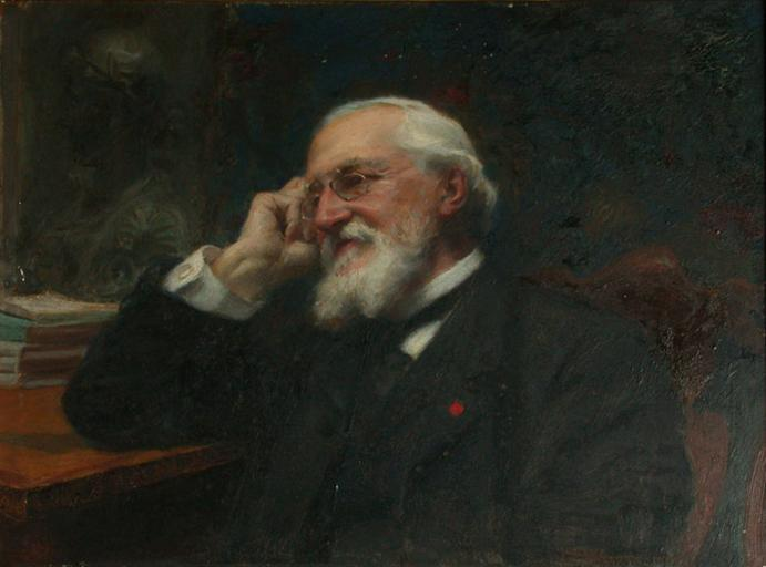 GEORGES LAFENESTRE, Oil by Jean-Joseph Weerts (1846-1927)