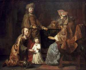 Gerbrand Van Den Eeckhout - The Infant Samuel brought by Hanna to Eli