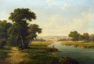 Walter Heath Williams - River Landscape
