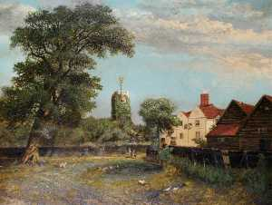 Charles Smith - Hendon Church from Dunlop's Field
