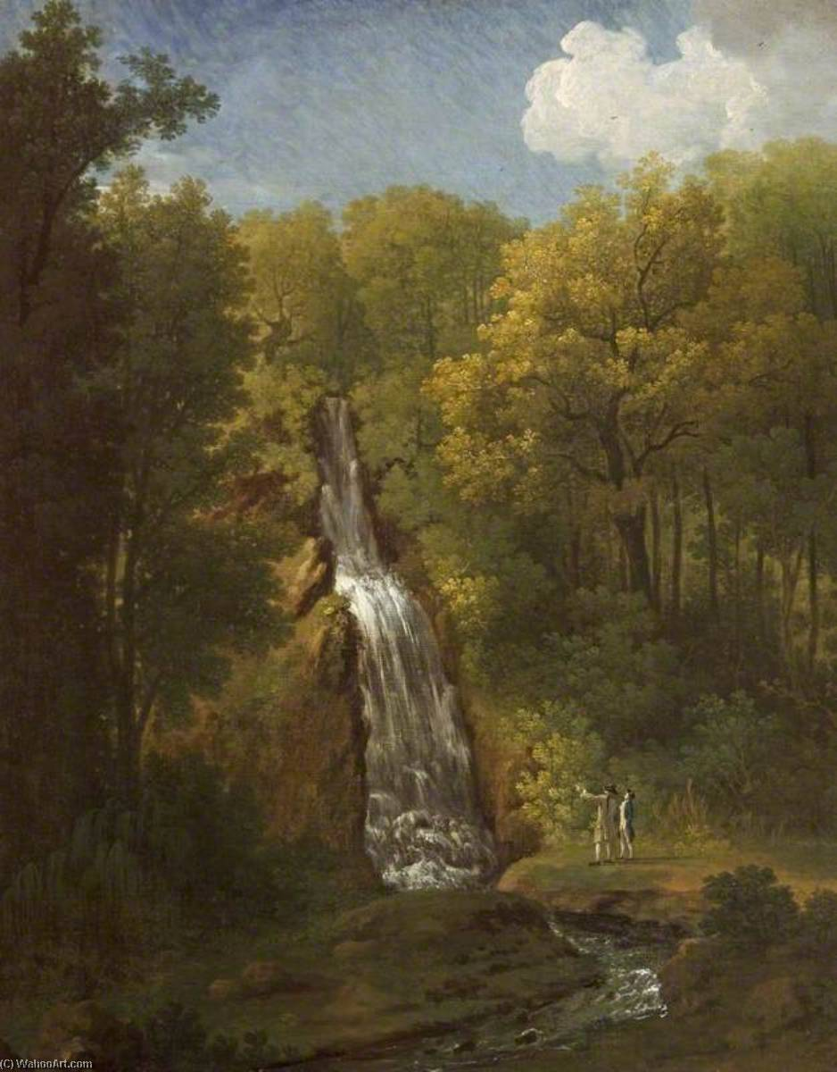 The Cascade at Hestercombe, Somerset, 1770 by John Inigo Richards | Museum Quality Reproductions | WahooArt.com