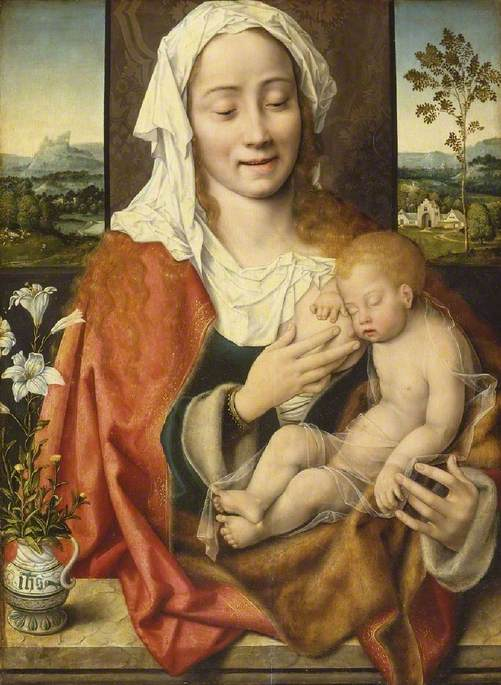Order Museum Quality Reproductions : Virgin and Child, 1530 by Joos Van Cleve (1485-1540, Germany) | WahooArt.com